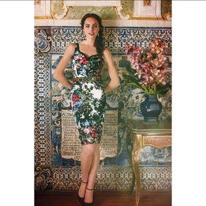 Anthropology Leifnotes Chroma Shadow Floral Dress